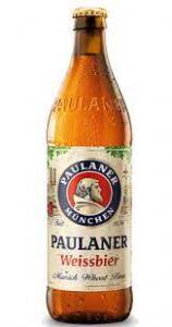 Paulaner (cerveza de trigo alemana) 0,5 lt.